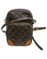 62b3828470be Lyst - Louis Vuitton Pre-owned Crossbody Bag in Brown