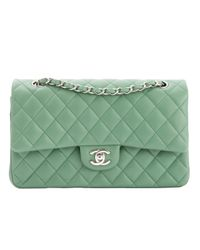 Chanel - Green Pre-owned Timeless Leather Handbag - Lyst