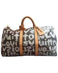 Louis Vuitton - Brown Pre-owned Keepall Cloth Handbag - Lyst