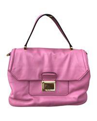 Miu Miu - Pink Pre-owned Vitello Leather Handbag - Lyst