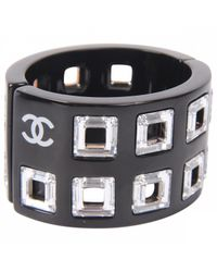 Chanel - Pre-owned Black Plastic Bracelet - Lyst