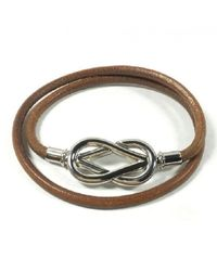 Hermès | Brown Pre-owned Leather Bracelet | Lyst