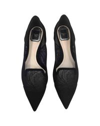 Dior - Black Pre-owned Leather Ballet Flats - Lyst