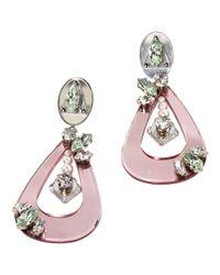 Miu Miu | Pink Pre-owned Earrings | Lyst