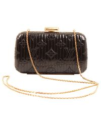 Louis Vuitton - Black Pre-owned Patent Leather Clutch Bag - Lyst