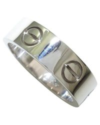 Cartier - Metallic Pre-owned Love White Gold Ring - Lyst