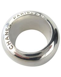 Chanel - Metallic Pre-owned Silver Ring - Lyst