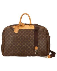 Louis Vuitton | Brown Pre-owned Cloth Travel Bag | Lyst