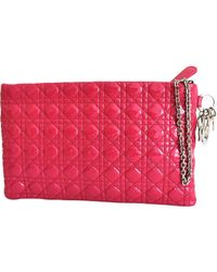 Dior | Pink Pre-owned Patent Leather Clutch Bag | Lyst