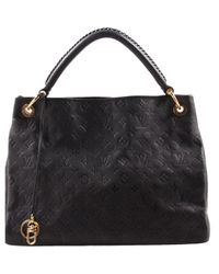 00299eaaee63 Louis Vuitton Pre-owned Artsy Leather Handbag in Black - Lyst