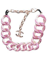 Chanel | Pink Pre-owned Necklace | Lyst