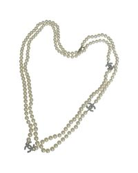 Chanel | White Pre-owned Pearls Long Necklace | Lyst
