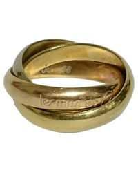 Cartier   Metallic Pre-owned Trinity White Gold Ring   Lyst