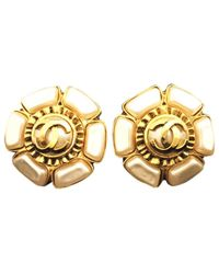 Chanel - Metallic Pre-owned Jade Earrings - Lyst