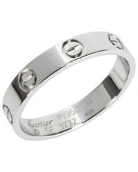 Cartier - Metallic Pre-owned Love Platinum Ring - Lyst