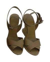 Christian Louboutin - Natural Pre-owned Spartan Sandals - Lyst