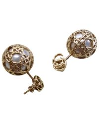 Dior - Metallic Pre-owned Earrings - Lyst