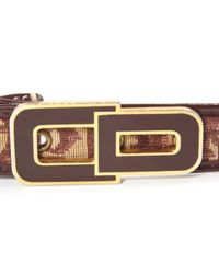 Dior - Red Cloth Belt - Lyst