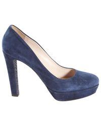 Miu Miu - Blue Heels - Lyst