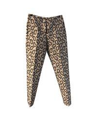 Joseph - Black Multicolour Polyester Trousers - Lyst