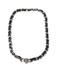 Chanel - Black Pre-owned Necklace Or Double Bracelet - Lyst