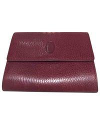 Cartier - Purple Leather Wallet - Lyst