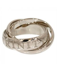 Cartier - Pre-owned Trinity White Gold Ring - Lyst