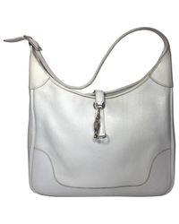 Hermès - Gray Trim Leather Handbag - Lyst
