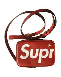 Louis Vuitton - Red Pre-owned Leather Bag - Lyst