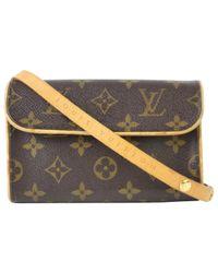 Louis Vuitton - Brown Cloth Crossbody Bag - Lyst
