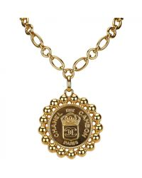 Chanel - Metallic Necklace - Lyst