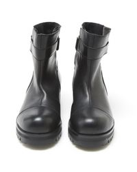 Marni - Black Pre-owned Leather Biker Boots - Lyst