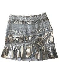 Isabel Marant - Metallic Pre-owned Mini Skirt - Lyst