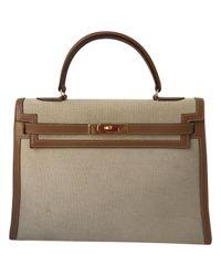 Hermès - Natural Kelly 32 Handbag - Lyst