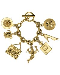 Chanel | Metallic Pre-owned Gold Metal Bracelet | Lyst