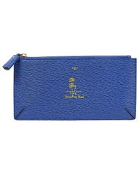 Anya Hindmarch - Pre-owned Blue Leather Clutch Bags - Lyst