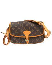 Louis Vuitton - Brown Pre-owned Sologne Cloth Handbag - Lyst