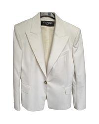 Balmain - White Cotton Jacket - Lyst