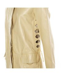 Helmut Lang - Yellow Leather Coat - Lyst