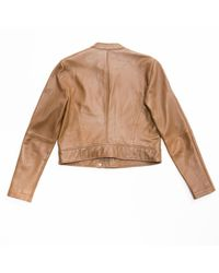 MICHAEL Michael Kors - Brown Leather Jacket - Lyst