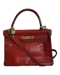 Hermès - Red Kelly 28 Leather Handbag - Lyst