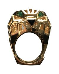 Cartier - Metallic Panthère Yellow Gold Ring - Lyst