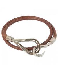 Hermès   Brown Pre-owned Jumbo Leather Bracelet   Lyst