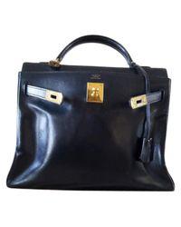 Hermès - Blue Kelly 32 Leather Handbag - Lyst