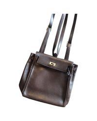 Hermès - Pre-owned Kellyado Brown Leather Backpacks - Lyst