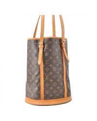 Louis Vuitton - Brown Pre-owned Cloth Handbag - Lyst