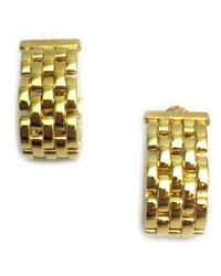 Cartier - Metallic Maillon Panthère Other Yellow Gold Earrings - Lyst