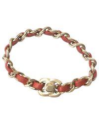 Chanel - Metallic Pre-owned Gold Metal Bracelet - Lyst
