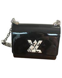 Louis Vuitton - Black Pre-owned Twist Patent Leather Handbag - Lyst