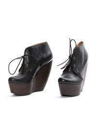 Lanvin - Black Leather Ankle Boots - Lyst